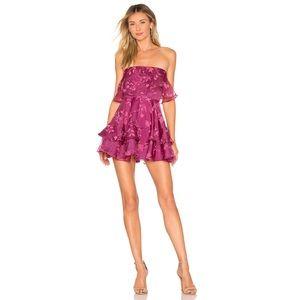 NWT Lovers + Friends Bexley Mini Dress || Magenta